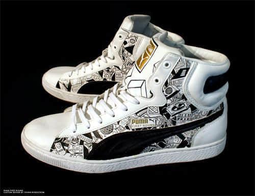 35双个性化设计的涂鸦鞋