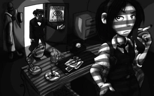 30张黑色系列数字插画