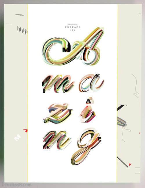 50个排版优美且富有灵感的文字设计