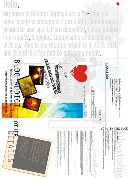 35个国外图形简历设计