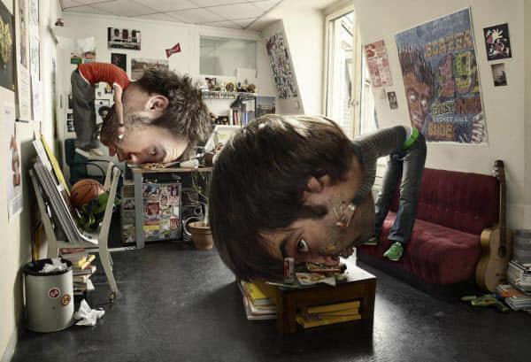 20张头部增大搞笑艺术 - 疯狂创意