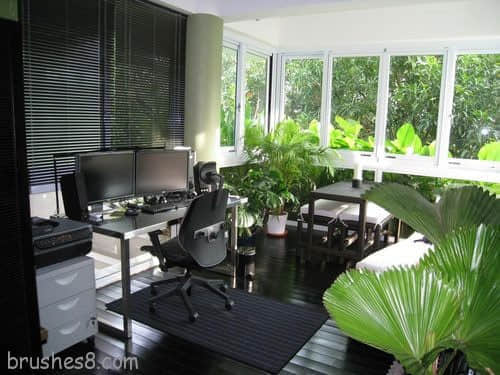 国外潮流办公室设计给你家的温馨