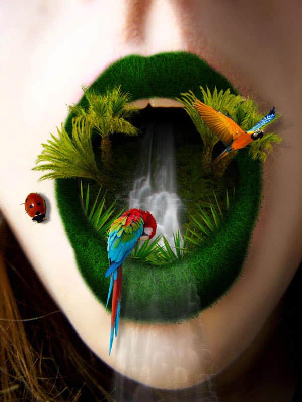 30个与大自然结合的photoshop作品欣赏