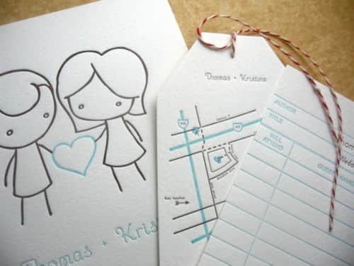 25张美丽的婚礼喜帖设计