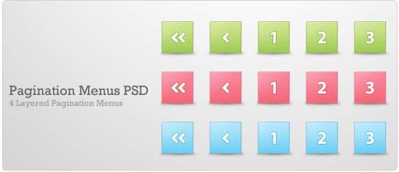 Web分页菜单栏psd文件免费下载