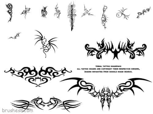 纹身纹饰笔刷