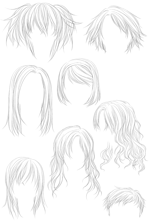 多种头发发型笔刷