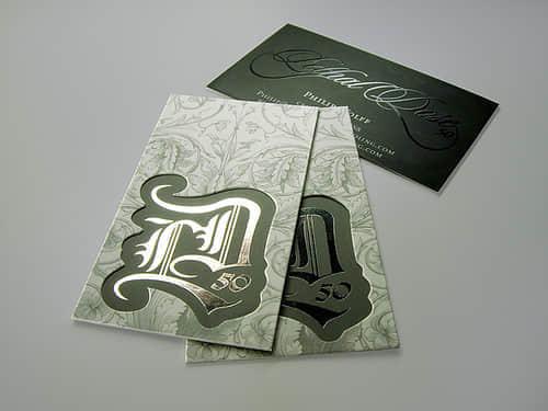 20张华丽的s丝印花纹名片设计