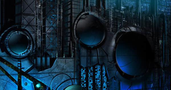 100张未来城市的科幻艺术插图照片