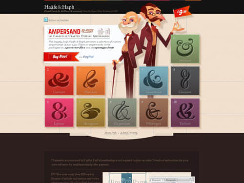 47独特例行的网页设计范例