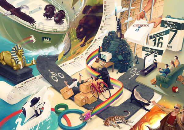 16张精心设计的插画艺术欣赏 插画 插图 illustration插画  artistic inspiration