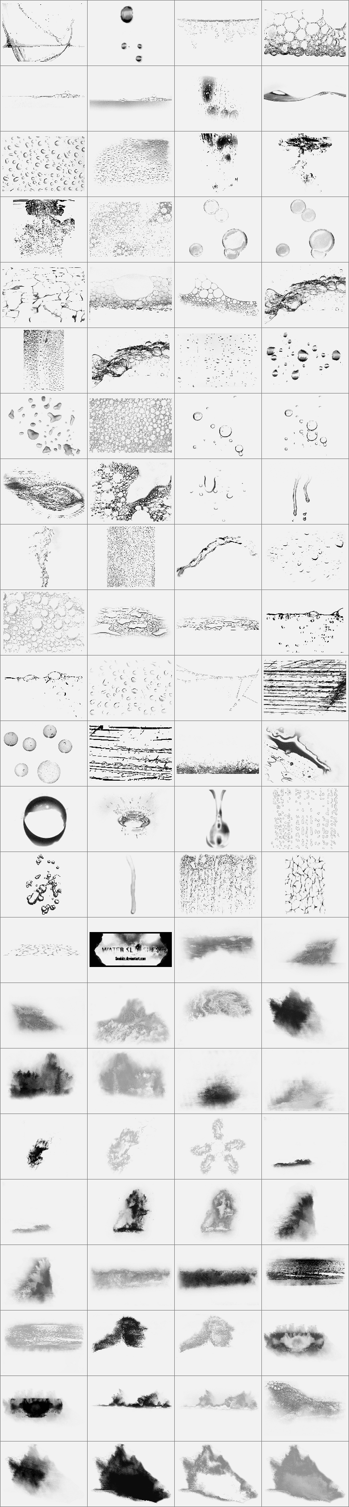 泡沫水迹笔刷