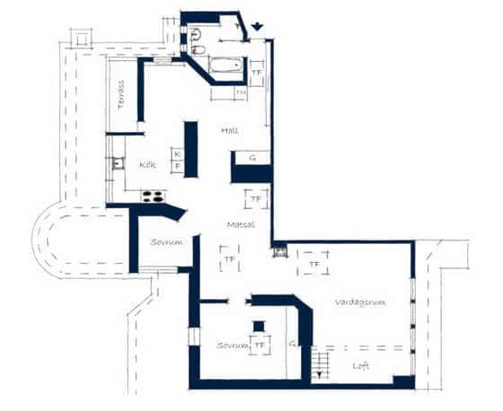 16张来自瑞典的阁楼公寓设计照片