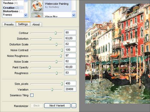 最牛的水彩插件Filter Forge使用教程