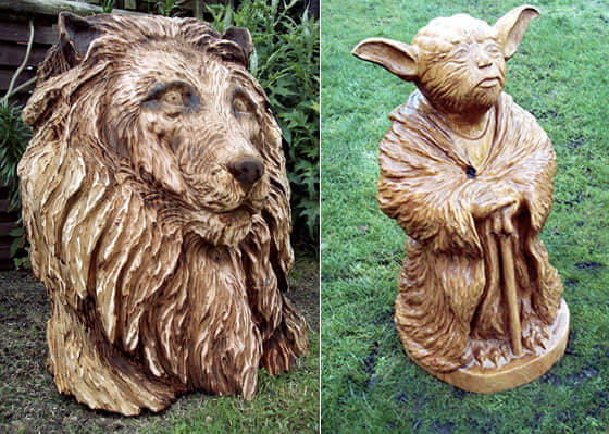 8张利用电锯雕刻的木雕艺术欣赏