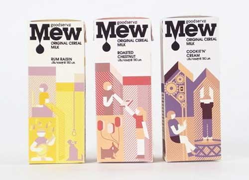 32例国外牛奶包装设计欣赏
