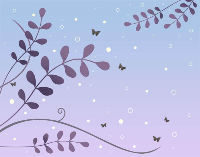 柳条枝叶装饰背景笔刷