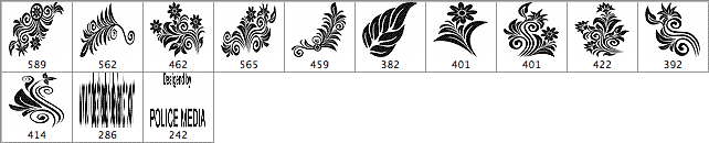 装饰性花纹图案笔刷