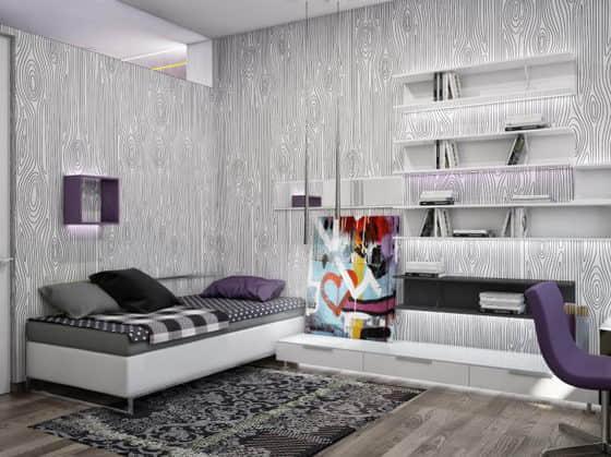 乌克兰现代设计下的一所公寓设计图