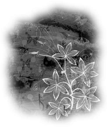 手绘与彩绘花纹背景笔刷