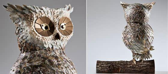 6张栩栩如生的纸片雕塑欣赏