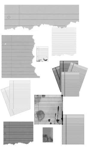 多种音乐谱子纸张笔刷