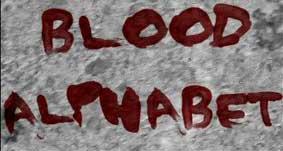 7个血书字母流血笔刷打包免费下载