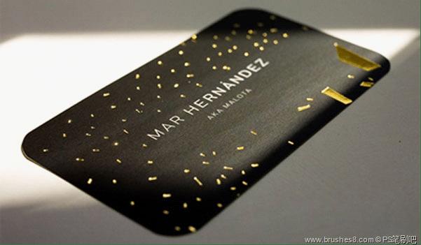 30张黑色质感的名片设计