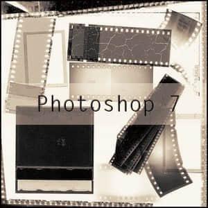 拍立得相片与老式胶卷笔刷