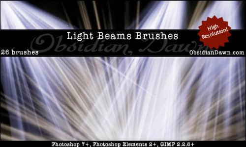 灯塔光线阳光光线笔刷