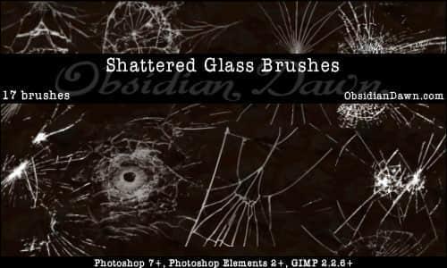 破碎的玻璃笔刷