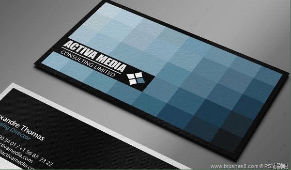 30张蓝色调系列名片设计