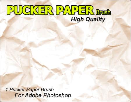 褶皱的白纸笔刷
