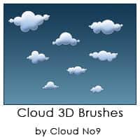 3D卡通云朵笔刷