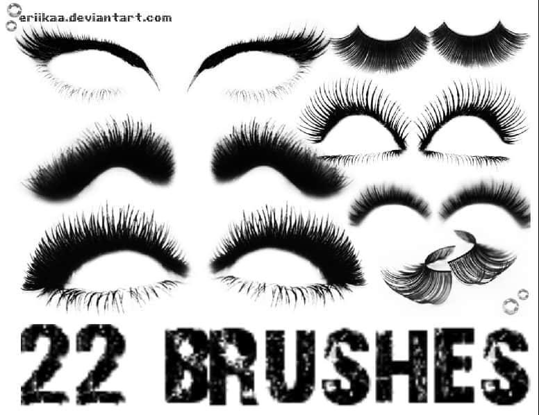 22个漂亮的眼睫毛修饰笔刷