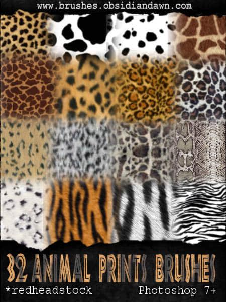 32种豹纹斑点花纹笔刷