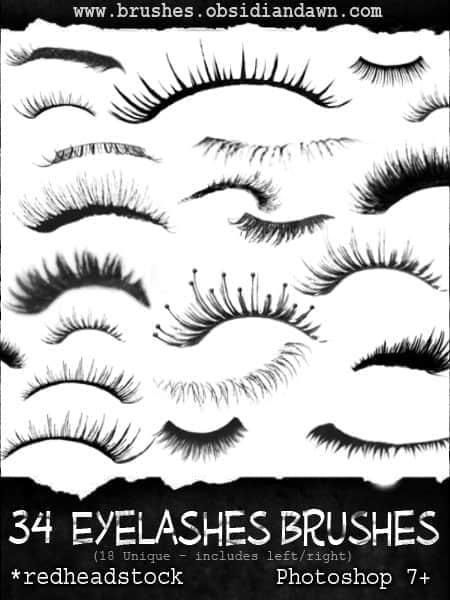34种非主流眼睫毛装扮笔刷