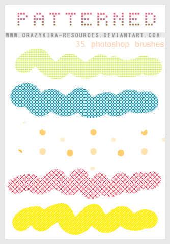 简单图案画笔笔刷 图案笔刷  symbols brushes photoshop brush