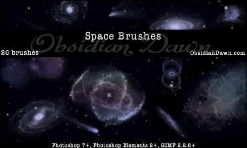 漂亮的银河星系笔刷