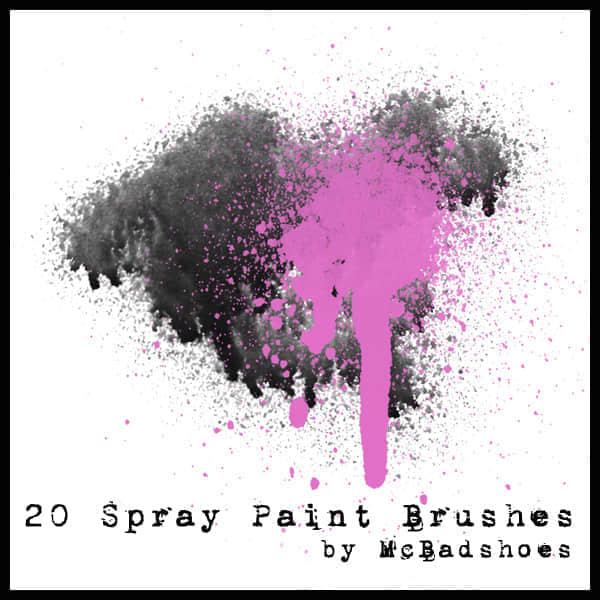 20种油漆喷漆效果笔刷