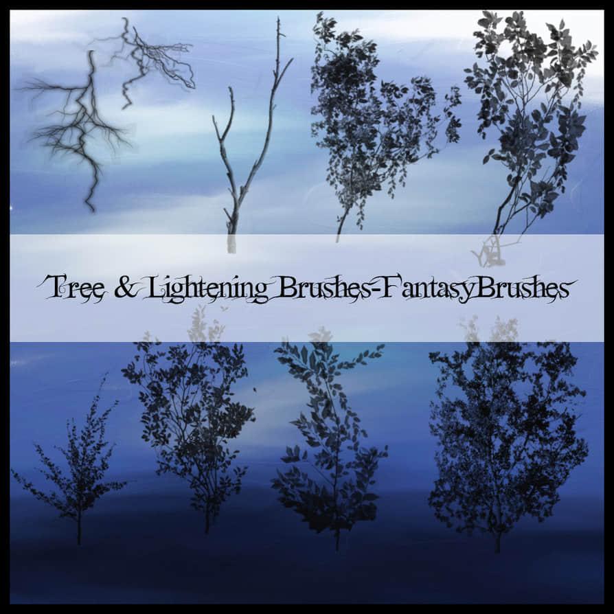 树木资源笔刷 树木笔刷 小树笔刷  plants brushes