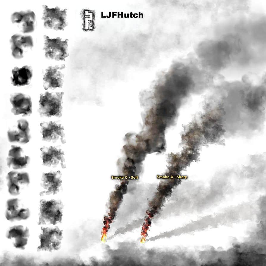 火焰燃烧烟雾笔刷