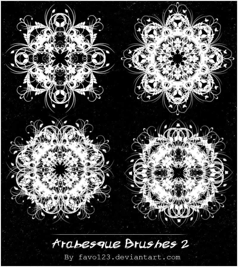 漂亮的藤蔓花纹图案笔刷