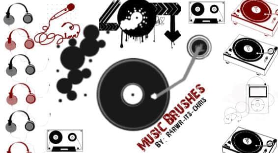 音乐DJ唱片笔刷