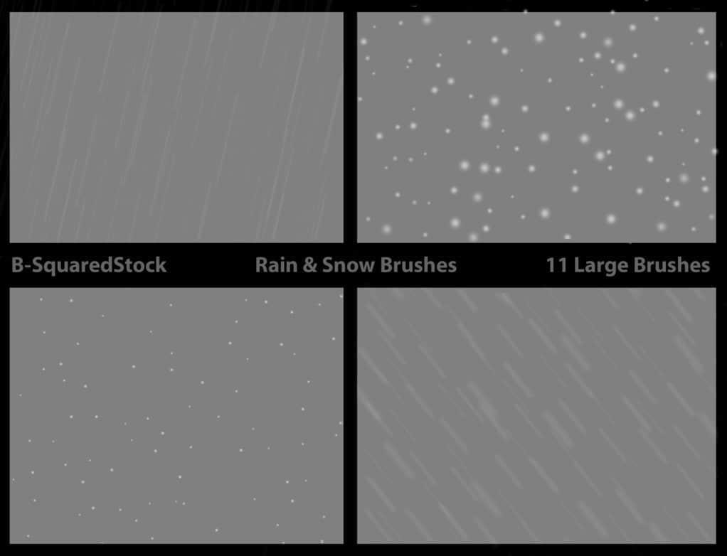 雨和雪笔刷