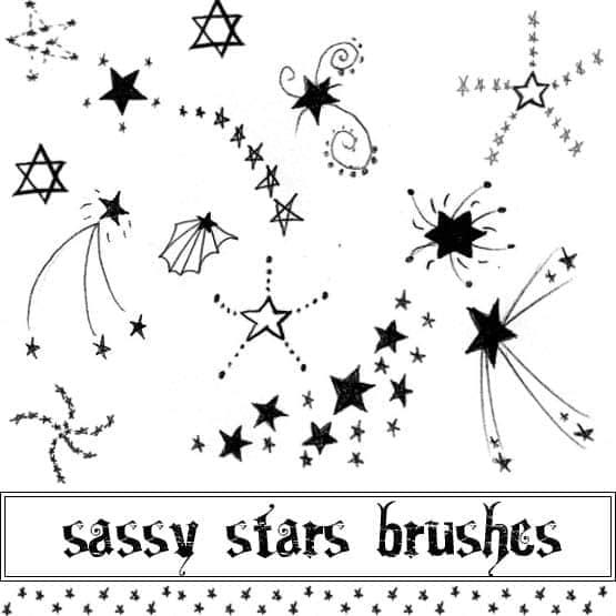 各式各样星星符号笔刷