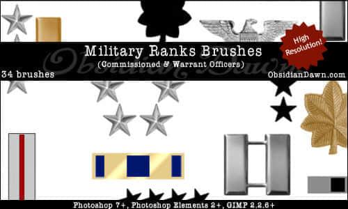 美国军队星级等级笔刷