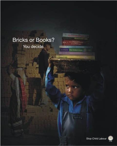 20个禁止雇佣童工的公益广告设计