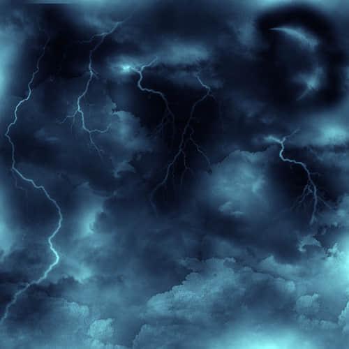 乌云密布的天空云朵笔刷
