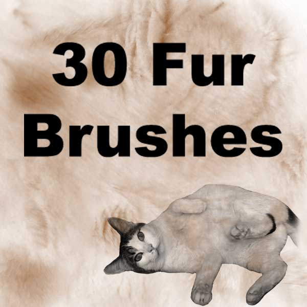 30种皮毛毛发笔刷